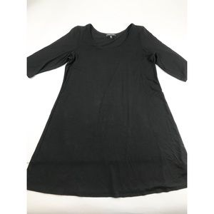 Eileen Fisher Small S Black Tunic Top Rayon Lycra